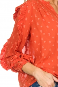 Munthe    Blouse with dots Annie   orange    Picture 6