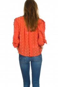 Munthe    Blouse with dots Annie   orange    Picture 5