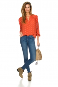 Munthe    Blouse with dots Annie   orange    Picture 3