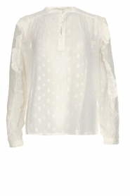 Munthe |  Dotted blouse with ruffles Annie | natural  | Picture 1