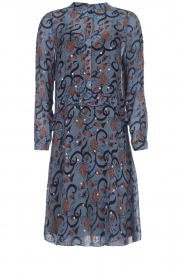 Munthe |  Dress with print Alyssa | blue  | Picture 1