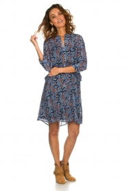 Munthe |  Dress with print Alyssa | blue  | Picture 3
