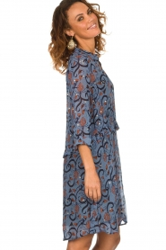 Munthe |  Dress with print Alyssa | blue  | Picture 4
