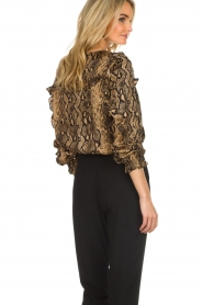 Munthe |  Blouse with snake print  Andy | black   | Picture 5