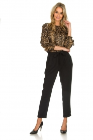 Munthe |  Blouse with snake print  Andy | black   | Picture 3