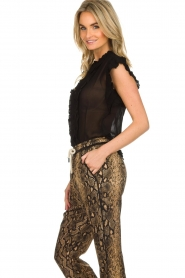 Munthe |  Top with ruffles Above | black  | Picture 4