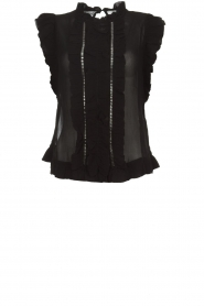 Munthe |  Top with ruffles Above | black  | Picture 1