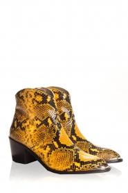 Toral | Enkellaarzen met slangenprint Ambra | geel  | Afbeelding 4