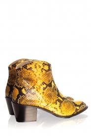 Toral | Enkellaarzen met slangenprint Ambra | geel  | Afbeelding 5