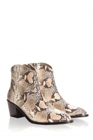 Toral |  Ankle boots with snakes print Ambra | beige  | Picture 4
