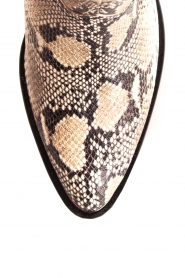 Toral | Enkellaarzen met slangenprint Ambra | beige  | Afbeelding 6
