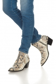 Toral |  Ankle boots with snakes print Ambra | beige  | Picture 3