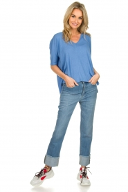 Lois Jeans |  Jeans with turned trouser legs Stone | blue  | Picture 3