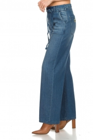 Lois Jeans |  Cotton jeans with belt Noemi | blue  | Picture 4