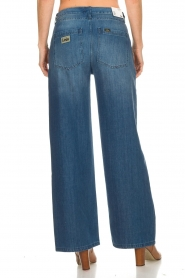Lois Jeans |  Cotton jeans with belt Noemi | blue  | Picture 5