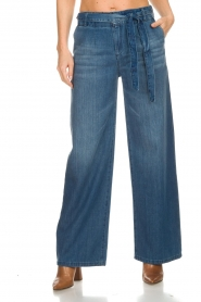 Lois Jeans |  Cotton jeans with belt Noemi | blue  | Picture 3