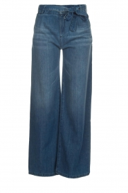 Lois Jeans |  Cotton jeans with belt Noemi | blue  | Picture 1