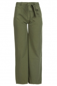 Lois Jeans |  Wide leg cotton pants Noemi | green  | Picture 1