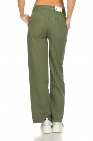 Lois Jeans |  Wide leg cotton pants Noemi | green  | Picture 5