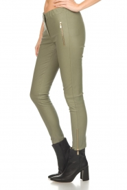 Arma |  Leather pants with zip pockets Cadiz | green  | Picture 4