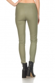 Arma |  Leather pants with zip pockets Cadiz | green  | Picture 5