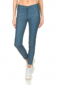 Arma |  Leather pants with zip pockets Cadiz | blue  | Picture 3