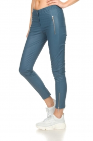 Arma |  Leather pants with zip pockets Cadiz | blue  | Picture 4