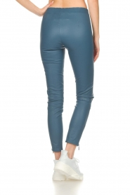 Arma |  Leather pants with zip pockets Cadiz | blue  | Picture 5