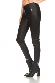 Arma |  Leather pants with zip pockets Cadiz | black  | Picture 4