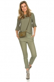 Arma |  Leather pants Provence | green  | Picture 2