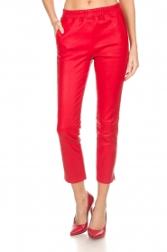 Arma |  Leather pants Provence | red  | Picture 3