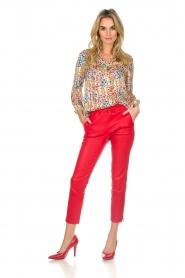 Arma |  Leather pants Provence | red  | Picture 2