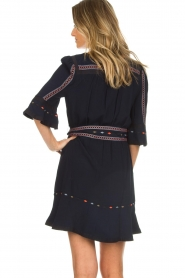 ba&sh |  Embroidered dress Plaza | blue  | Picture 6