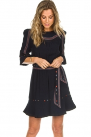 ba&sh |  Embroidered dress Plaza | blue  | Picture 4