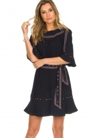 ba&sh |  Embroidered dress Plaza | blue  | Picture 2