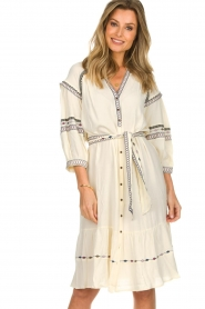 ba&sh |  Embroidered blouse dress Patty | natural  | Picture 4