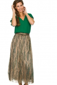 ba&sh |  Glitter maxi skirt Susan | multi  | Picture 2