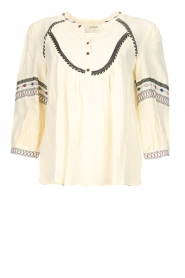 ba&sh |  Blouse with bohemian pattern Plume | natura  | Picture 1