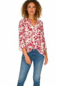 ba&sh |  Blouse with floral print Eddy| natural  | Picture 2