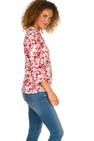 ba&sh |  Blouse with floral print Eddy| natural  | Picture 4