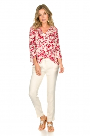 ba&sh |  Blouse with floral print Eddy| natural  | Picture 3