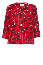 ba&sh |  Blouse with print Victoria | red  | Picture 1