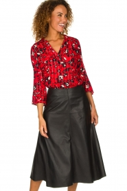 ba&sh |  Blouse with print Victoria | red  | Picture 2