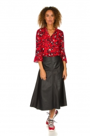 ba&sh |  Blouse with print Victoria | red  | Picture 3