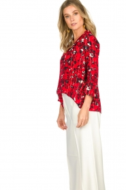 ba&sh |  Blouse with print Victoria | red  | Picture 4