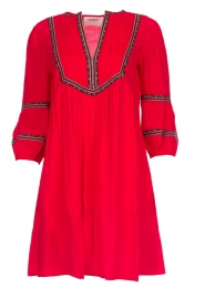 ba&sh |  Embroidered dress Cale | red  | Picture 1