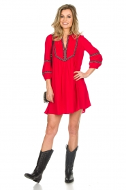 ba&sh |  Embroidered dress Cale | red  | Picture 3