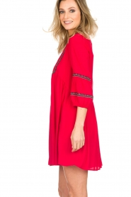 ba&sh |  Embroidered dress Cale | red  | Picture 4