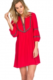 ba&sh |  Embroidered dress Cale | red  | Picture 6