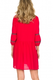 ba&sh |  Embroidered dress Cale | red  | Picture 5